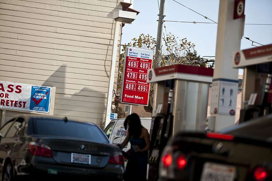 Gas prices rose $0.05 overnight for many California residents. Photo: Jason Henry, Special To The Chronicle