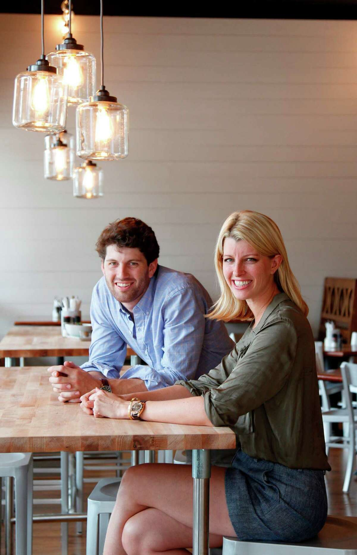 Siblings Nick Adair and Katie Adair Barnhart, co-owners of the Galleria-area Adair Kitchen, serve healthy food that tastes gourmet. nAmerican cuisine in their new Galleria restaurant on Thursday, Sept. 13, 2012, in Houston. ( Mayra Beltran / Houston Chronicle )