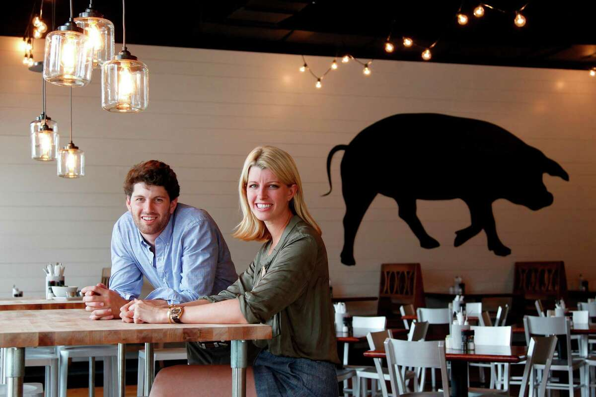 Siblings Nick Adair and Katie Adair Barnhart, co-owers of Adair Kitchen, are serving American cuisine in their new galleria restaurant on Thursday, Sept. 13, 2012, in Houston. ( Mayra Beltran / Houston Chronicle )