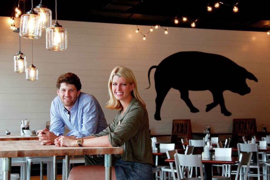 Siblings Nick Adair and Katie Adair Barnhart, co-owers of Adair Kitchen, are serving American cuisine in their new galleria restaurant  on Thursday, Sept. 13, 2012, in Houston. ( Mayra Beltran / Houston Chronicle ) Photo: Mayra Beltran / 2012 Houston Chronicle