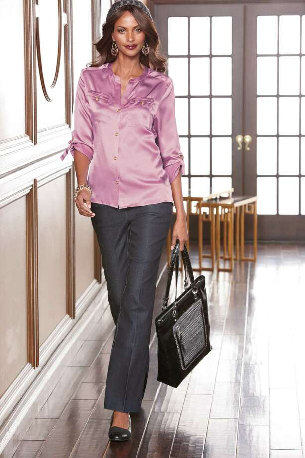 fashion: Dana Buchman utility top with tab sleeves, $56. At Kohl's. Photo: Kohl's