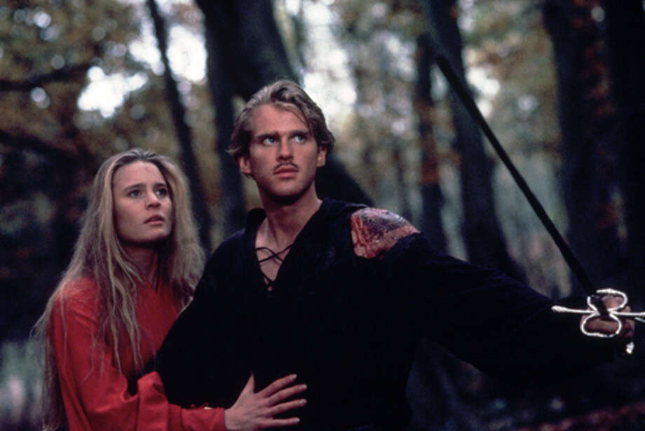 Westly/Dread Pirate Roberts (Carey Elwes) and Buttercup (Robin Wright) are menaced by R.O.U.S. (Rodents of Unusual Size) in the Fire Swamp. (Twentieth Century Fox Film Corporation Photography)