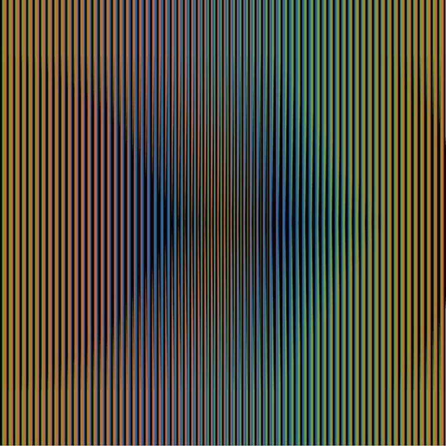 """""""Induccion Cromatica - Panama"""" is among the recent works by Carlos Cruz-Diez that change color as your perspective changes. See them at Sicardi Gallery through Nov. 3. Photo: Sicardi Gallery"""