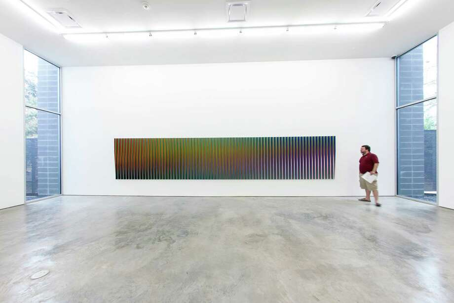Recent work by kinetic art master Carlos Cruz-Diez is on view at Sicardi Gallery through Nov. 3. Photo: Sicardi Gallery / Laura Burlton
