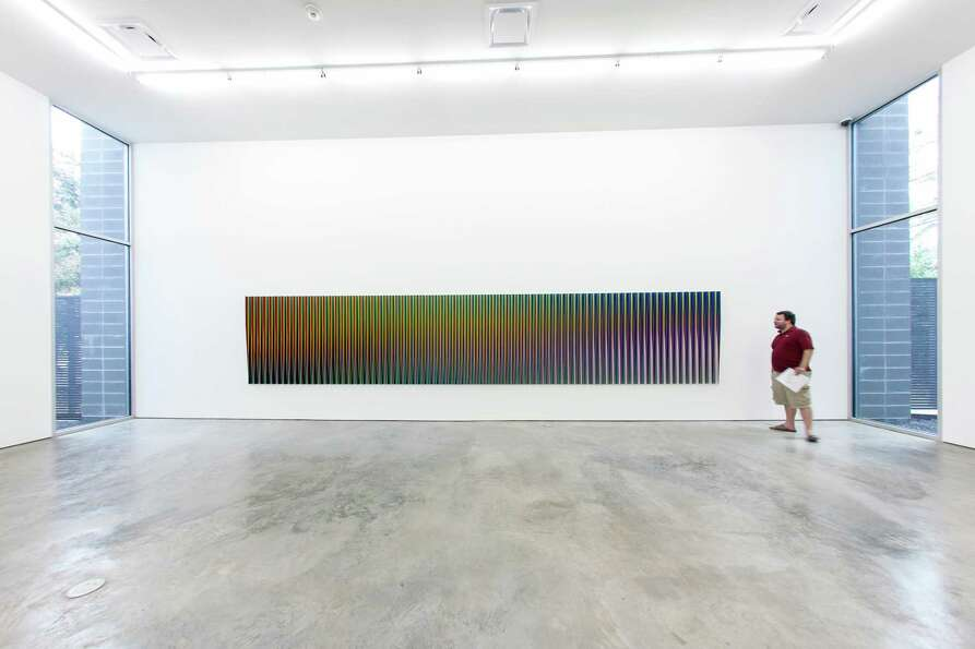 Recent work by kinetic art master Carlos Cruz-Diez is on view at Sicardi Gallery through Nov. 3.