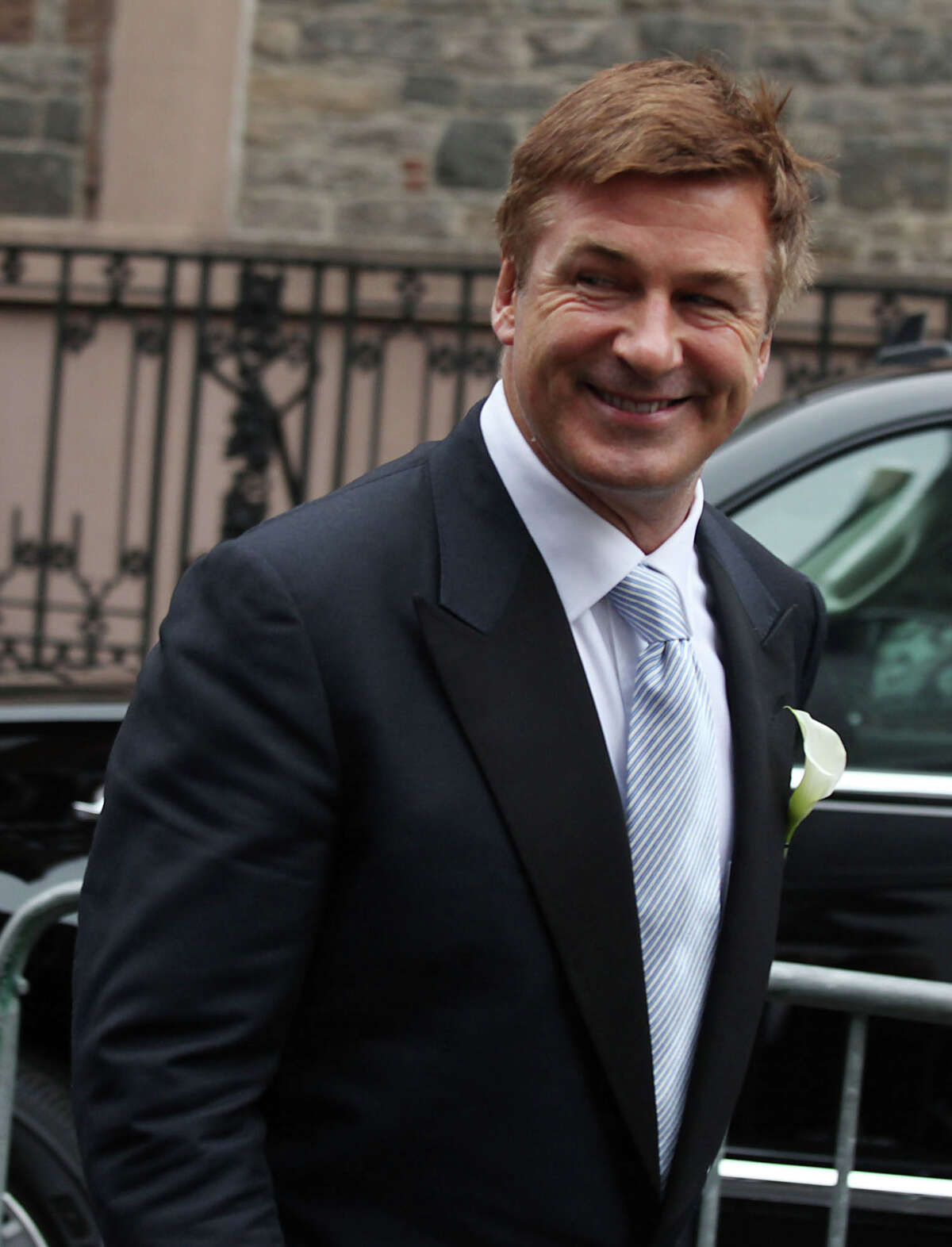 Alec Baldwin at his wedding on June, 30 2012 in New York City. Baldwin, 54, married Hilaria Thomas, a 28-year-old yoga instructor.