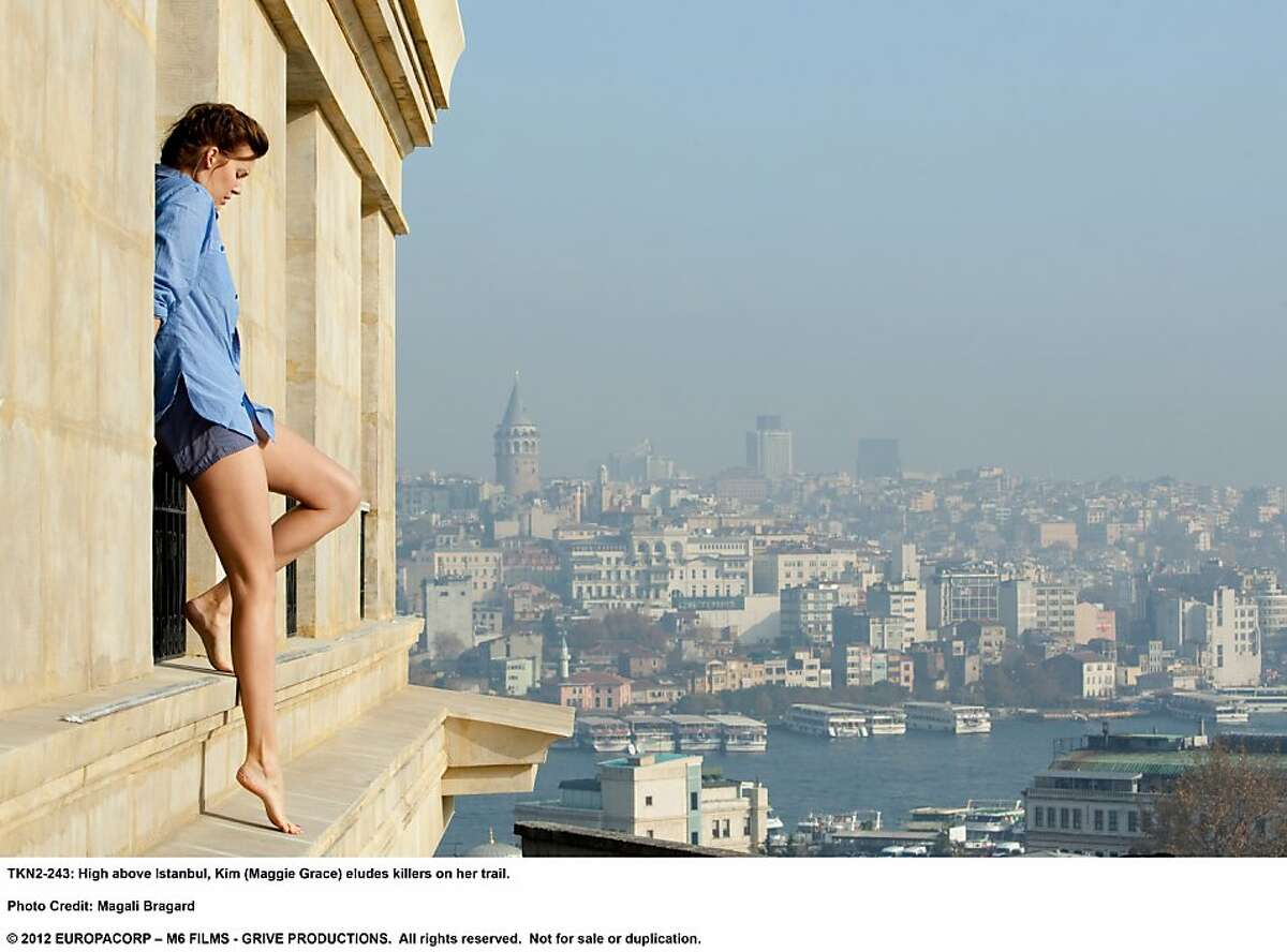 TAKEN 2 High above Istanbul, Kim (Maggie Grace) eludes killers on her trail.
