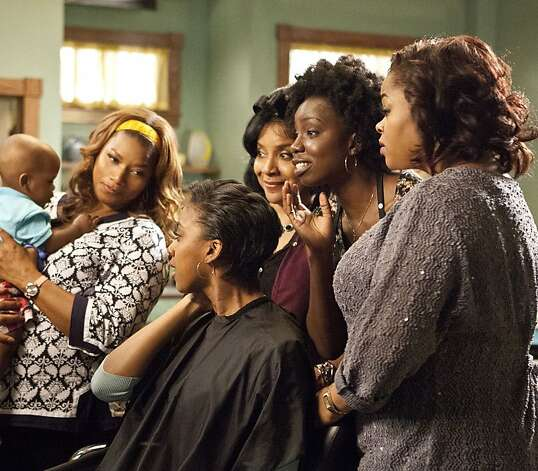 "Queen Latifah (left), Condola Rashad, Phylicia Rashad, Adepero Oduye and Jill Scott star in ""Steel Magnolias."" Photo: Annette Brown, Lifetime"