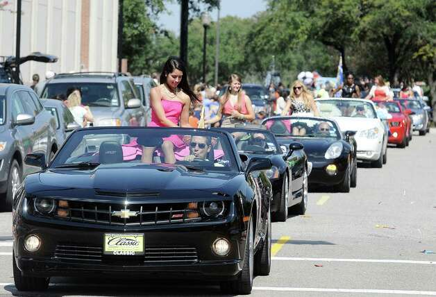 Monsignor Kelly Catholic High School Homecoming parade was held on the streets of downtown Beaumont on Wednesday, October 3, 2012. Photo taken: Randy Edwards/The Enterprise