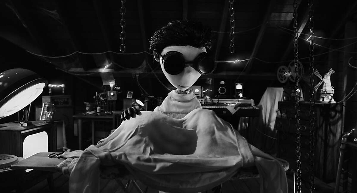 This film image released by Disney shows Victor Frankenstein, voiced by Charlie Tahan in a scene from