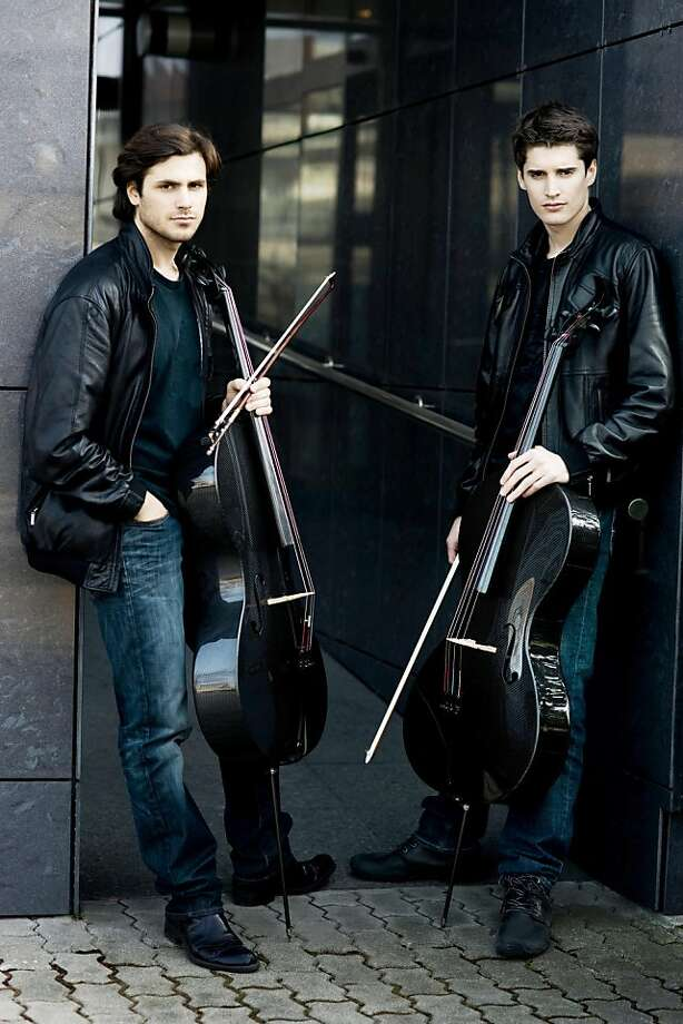 Stjepan Hauser (left) and Luka Sulic will perform Oct. 14 at the Fox Theatre in Redwood City. Photo: Dean Bertoncelj, Photo By Dean Bertoncelj
