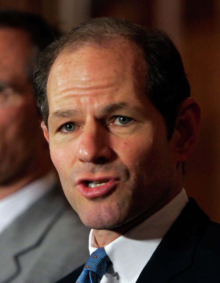 New York Gov. Eliot Spitzer speaks during a news conference at the Capitol in Albany, N.Y., Tuesday, May 8, 2007. (AP Photo/Mike Groll) Photo: Mike Groll / AP