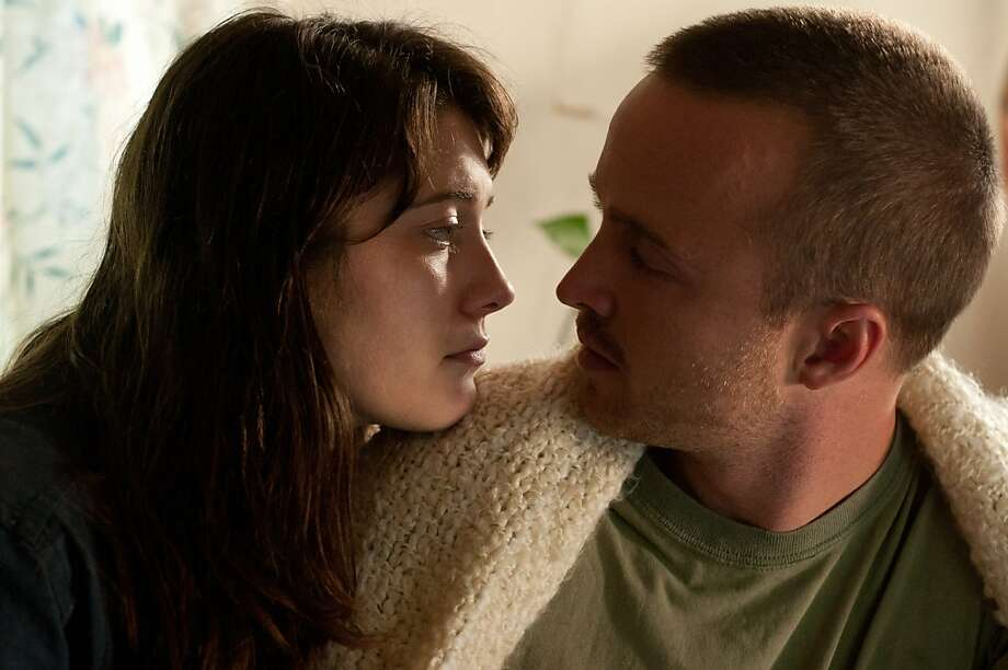 "Mary Elizabeth Winstead as Kate Hannah and Aaron Paul as Charlie Hannah in ""Smashed,"" about a couple bonded by their mutual love of alcohol, whose relationship is tested when she decides to get sober. Photo: Oana Marian, Sony Pictures Classics"