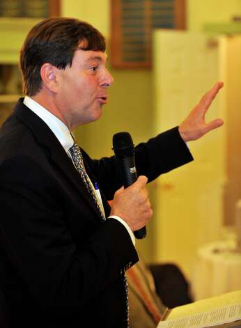 State Sen. Andrew Roraback, the Republican candidate for the 5th Congressional District, speaks during The Northwest Conservation District's forum at the Lake Waramaug Country Club in New Preston on Wednesday, Oct. 3, 2012. Photo: Jason Rearick / The News-Times