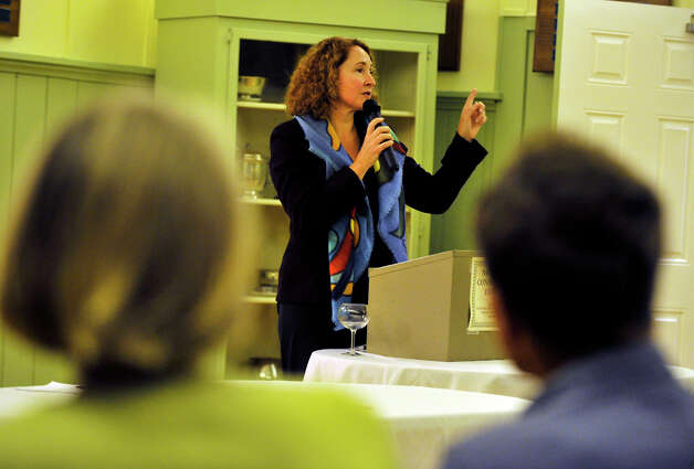 Elizabeth Esty, the Democratic candidate for the 5th Congressional District, speaks during The Northwest Conservation District's forum at the Lake Waramaug Country Club in New Preston on Wednesday, Oct. 3, 2012. Photo: Jason Rearick / The News-Times