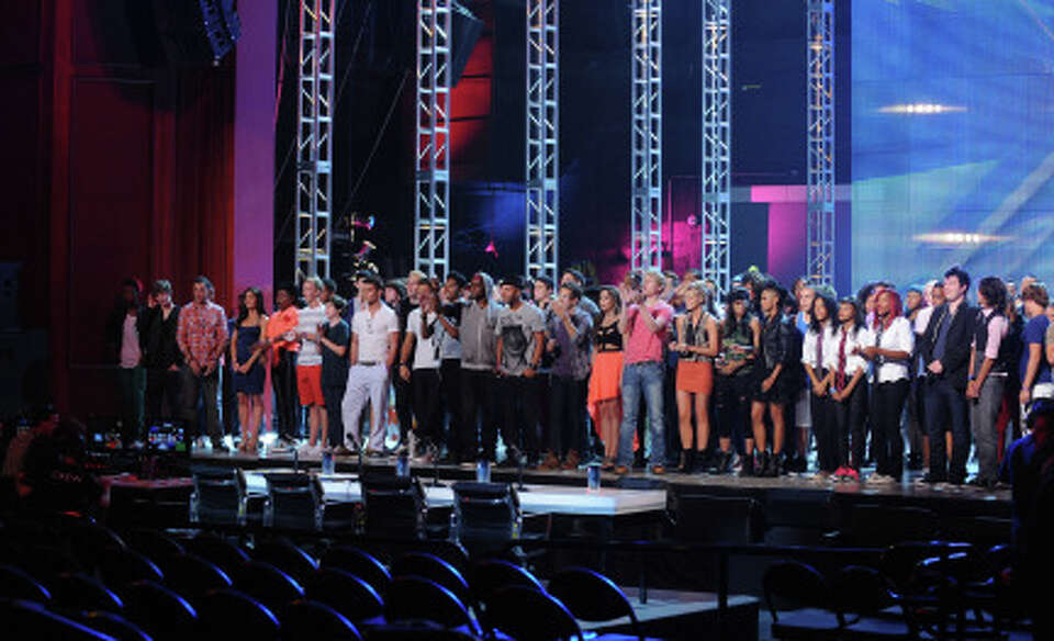 "THE X FACTOR: The contestants appear before the judges on the first night of ""Boot Camp"" i"