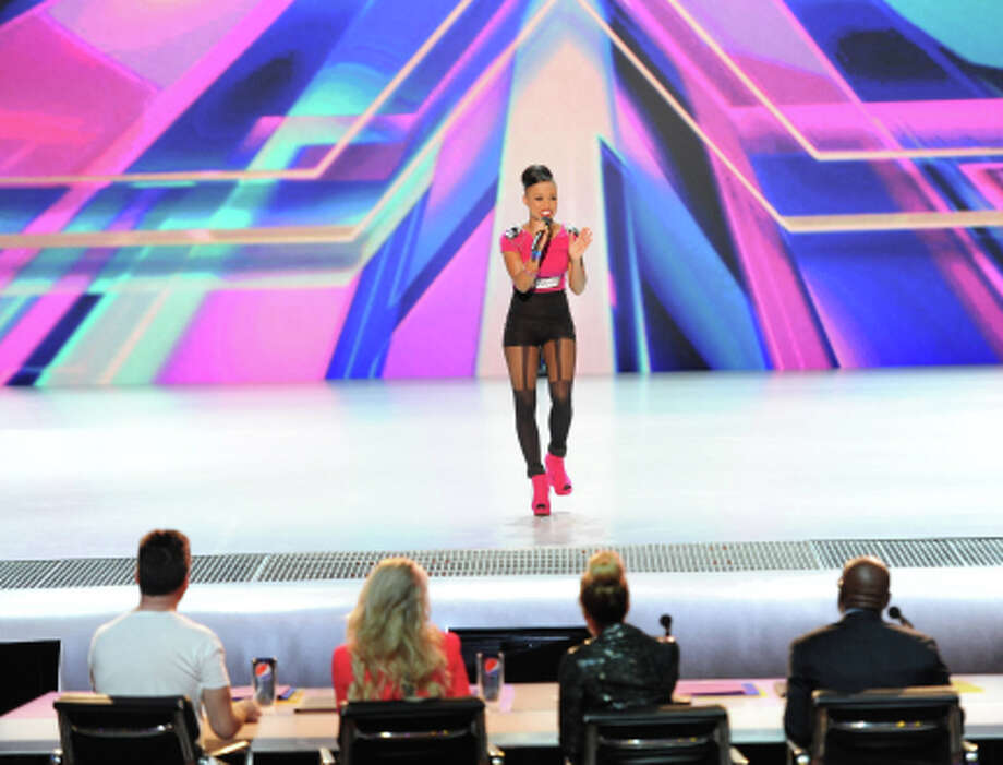THE X FACTOR: Paige Thomas performs in front of the judges on part-one of the two night season premiere of THE X FACTOR airing Wednesday, Sep. 12 and Thursday, Sep. 13 (8:00-10:00PM ET/PT) on FOX. CR: David Moir / FOX (                                                      )