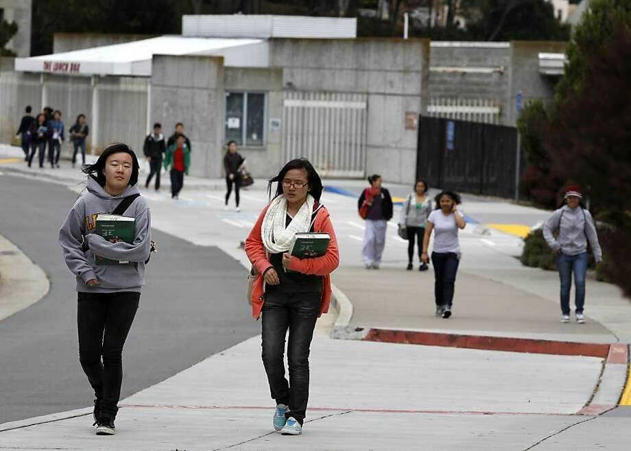 Nearly 36,000 students at City College are enrolled for credit, and at least 60 percent receive a fee waiver or financial aid. Photo: Paul Chinn, The Chronicle