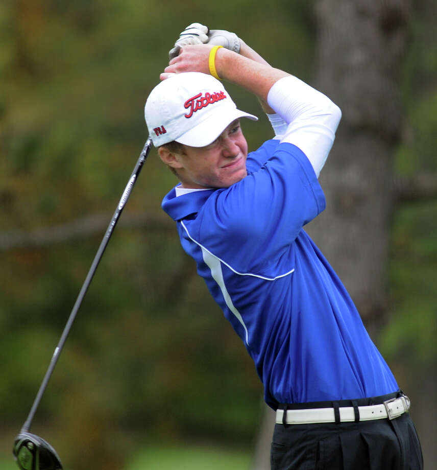 Saratoga's Calvin Beckwith drives the ball during the Section II Class A golf championship on Wednesday, Oct. 3, 2012, at Town of Colonie Golf Course in Colonie, N.Y. (Cindy Schultz / Times Union) Photo: Cindy Schultz / 00019228A
