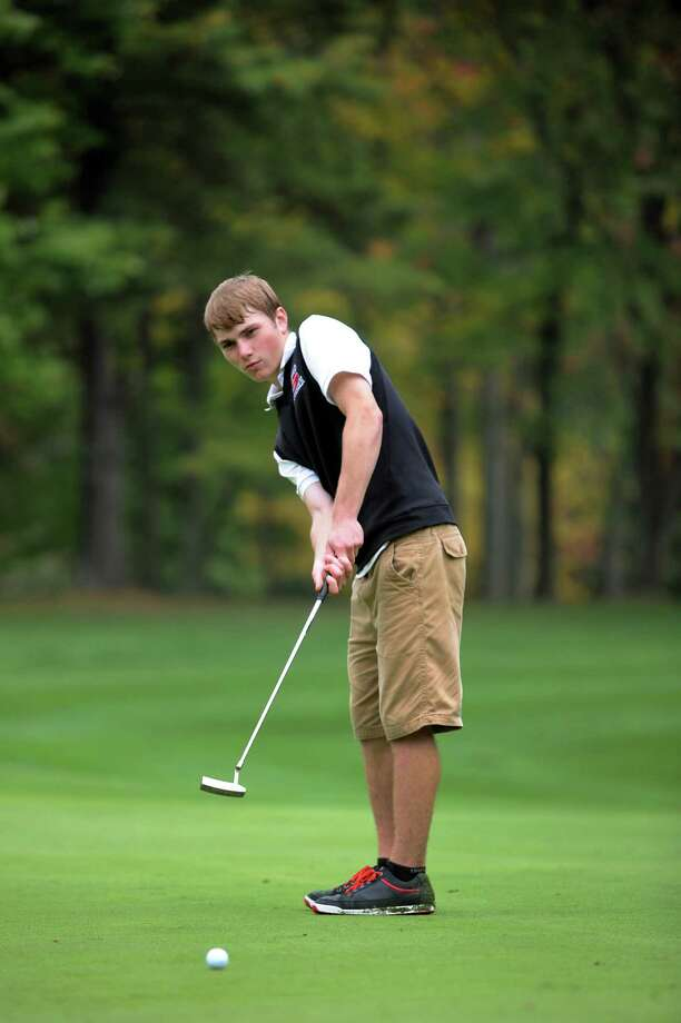 Guilderland's Billy Duncan putts during the Section II Class A golf championship on Wednesday, Oct. 3, 2012, at Town of Colonie Golf Course in Colonie, N.Y. (Cindy Schultz / Times Union) Photo: Cindy Schultz / 00019228A
