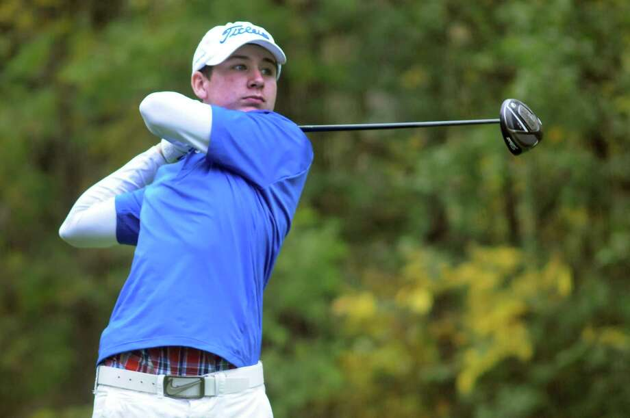 Shaker's Hunter Donovan drives the ball during the Section II Class A golf championship on Wednesday, Oct. 3, 2012, at Town of Colonie Golf Course in Colonie, N.Y. (Cindy Schultz / Times Union) Photo: Cindy Schultz / 00019228A