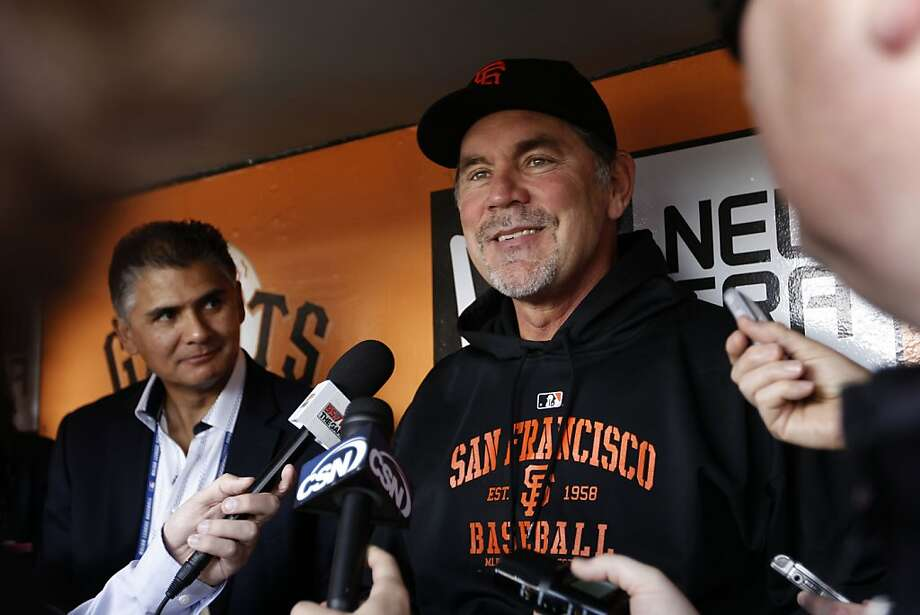 """Bruce Bochy, who has had to make a lot of adjustments this season, salutes his team as a """"really unselfish group."""" Photo: Michael Macor, The Chronicle"""