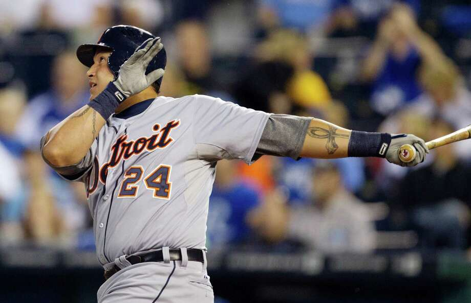 Miguel Cabrera  finished with a .330 average, four points ahead of Mike Trout in the batting race. Photo: Orlin Wagner / AP