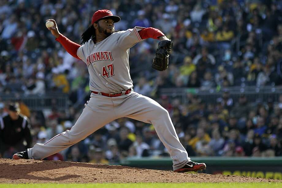 Johnny Cueto is the first pitcher since 1968 to throw 200-plus innings and not allow a steal. Photo: Gene J. Puskar, Associated Press