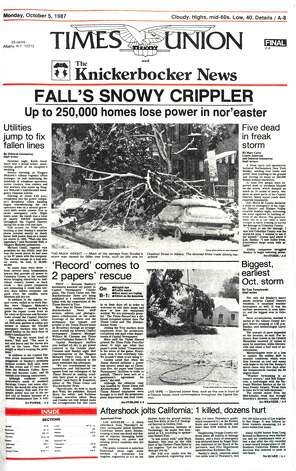 """Fall's snowy crippler,"" Irene, the 2008 ice storm: The Capital Region has a history of freakishly strong storm. Here's a look back at some of them."