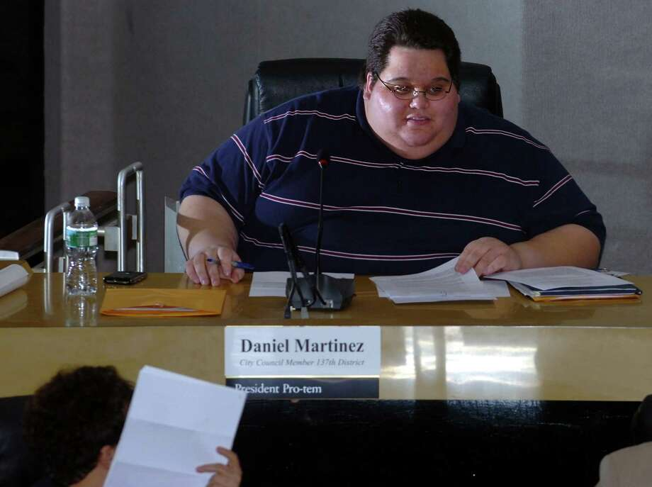 Daniel Martinez, seen here as a Bridgeport City Council member in January, 2008. Martinez died Wednesday at the age of 26. Photo: Autumn Driscoll / Connecticut Post