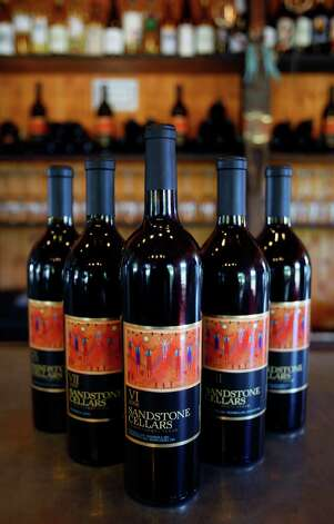 Five vintages of Sandstone Cellars' wine are seen Tuesday Oct. 2, 2012 in their Mason, Texas winery. Recently the company expanded to open a wine bar next door to the winery. Photo: William Luther, San Antonio Express-News / © 2012 San Antonio Express-News