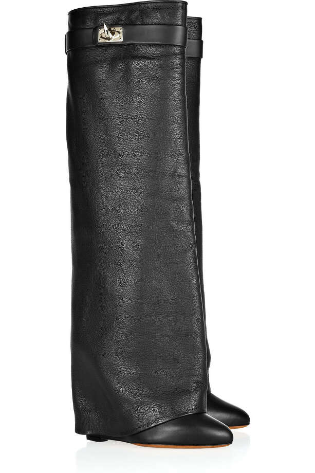 Givenchy leather fold-over knee boots, $1650 July 18, 2012. Credit: Courtesy of Net-A-Porter Photo: Courtesy Of Net-A-Porter