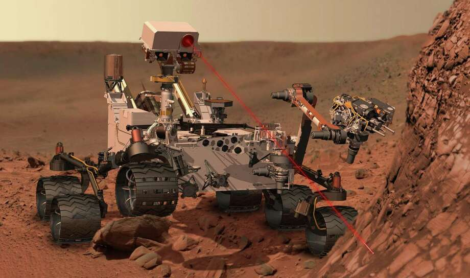 This artists rendering provided by NASA shows the Mars Rover, Curiosity. (AP Photo/NASA) Photo: Associated Press / NASA