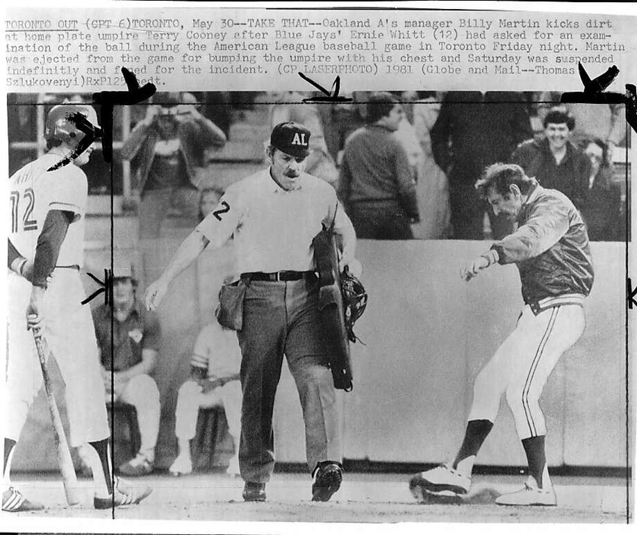 Billy Martin's 1981 A's are just one reason East Bay pride swells when the team plays well. Photo: Thomas Szlukovenyi