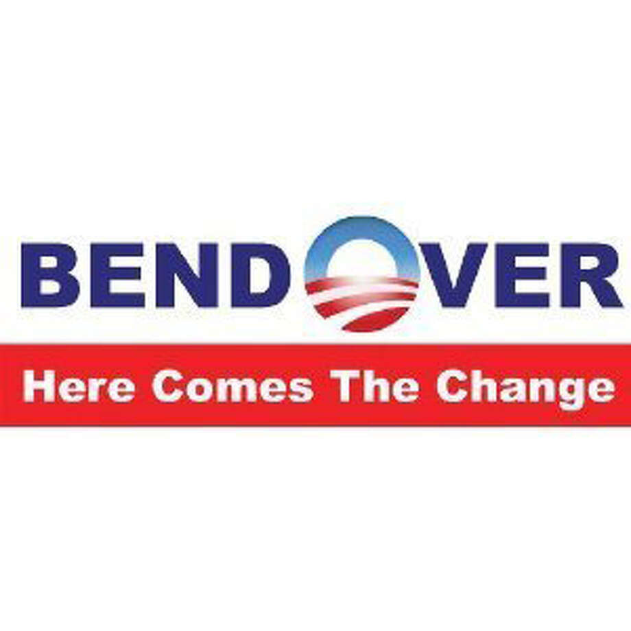 Really catches the eye, doesn't it? View: http://www.amazon.com/Bend-Over-Here-Comes-Change/dp/B00460K3ZM/