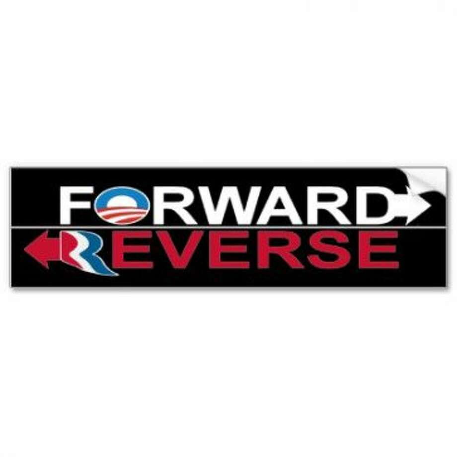 View: http://www.zazzle.com/obama_forward_romney_reverse_bumper_sticker-128803762541008957