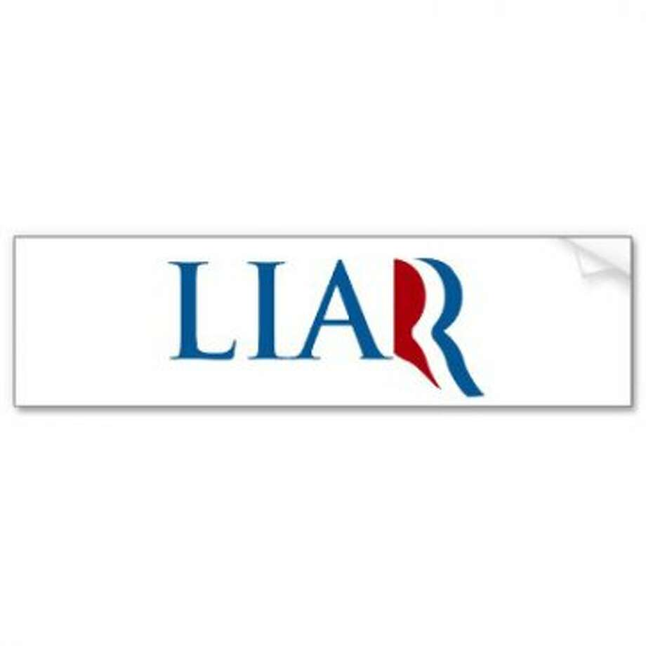 Note to future candidates: If a letter is going to be your campaign logo, don't make it a 1-point Scrabble letter. View: http://www.zazzle.com/anti_mitt_romney_flip_flopper_liar_logo_bumper_sticker-128408589398684849