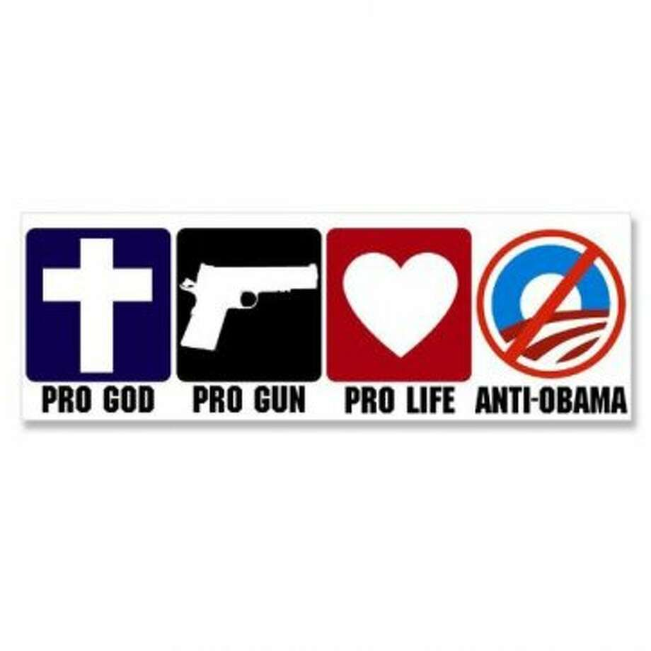 In that order? Unfortunately, we can only guess. View: http://www.amazon.com/Guns-Life-Obama-Bumper-Sticker/dp/B007DKQGQC/ (contributed photo / Contributed)