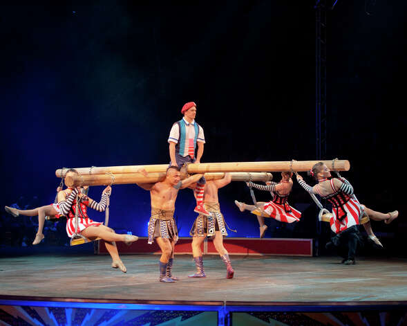 The Ringling Bros. and Barnum & Bailey Greatest Show on Earth comes to Bridgeport Oct. 18-21. Above are the circus strongmen and twirl dancers. Photo: Contributed Photo