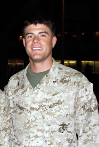 Marine Lance Cpl. Benjamin Whetstone Schmidt, taken in Maine in Aug. 2011 before he left for his second tour in Afghanistan. Courtesy the family.
