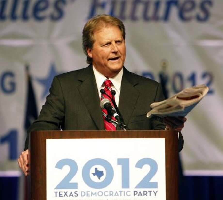 U.S. Senate Candidate Paul Sadler speaks during the the 2012 Texas Democratic Party State Convention at the George R. Brown Convention Center Friday, June 8, 2012, in Houston.( James Nielsen / Chronicle ) (James Nielsen / Chronicle)