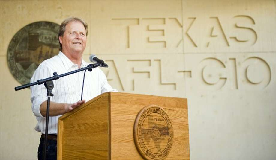 U.S. Senate candidate Paul Sadler (D) speaks to supporters during a fish fry at the American Federation of Labor - Congress of Industrial Organizations in Austin, TX on Fri., Aug. 31, 2012.Ashley Landis for the Houston Chronicle (Ashley Landis / copyright 2012 Ashley Landis)