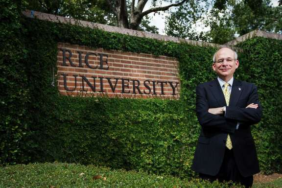 Rice president David Leebron says enriching endowments is important for the school's continued success.