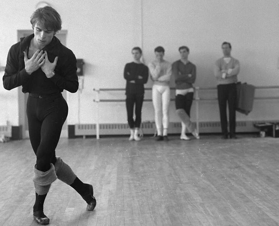 "Rudolf Nureyev rehearses for ""Marguerite and Armand"" at Covent Garden in Britain in 1963. Photo: Michael Peto, The University Of Dundee The Pet"
