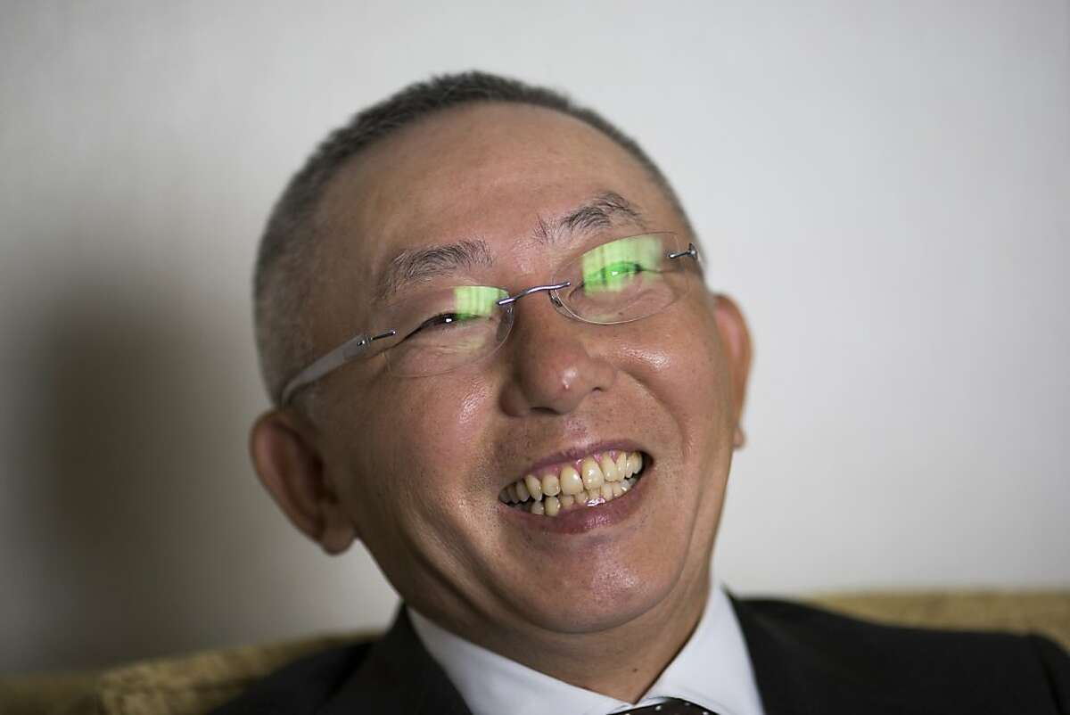 Uniqlo CEO Tadashi Yanai sits for a portrait during an interview at the Four Season Hotels in San Francisco, Calif. on Wednesday, Oct. 4, 2012.