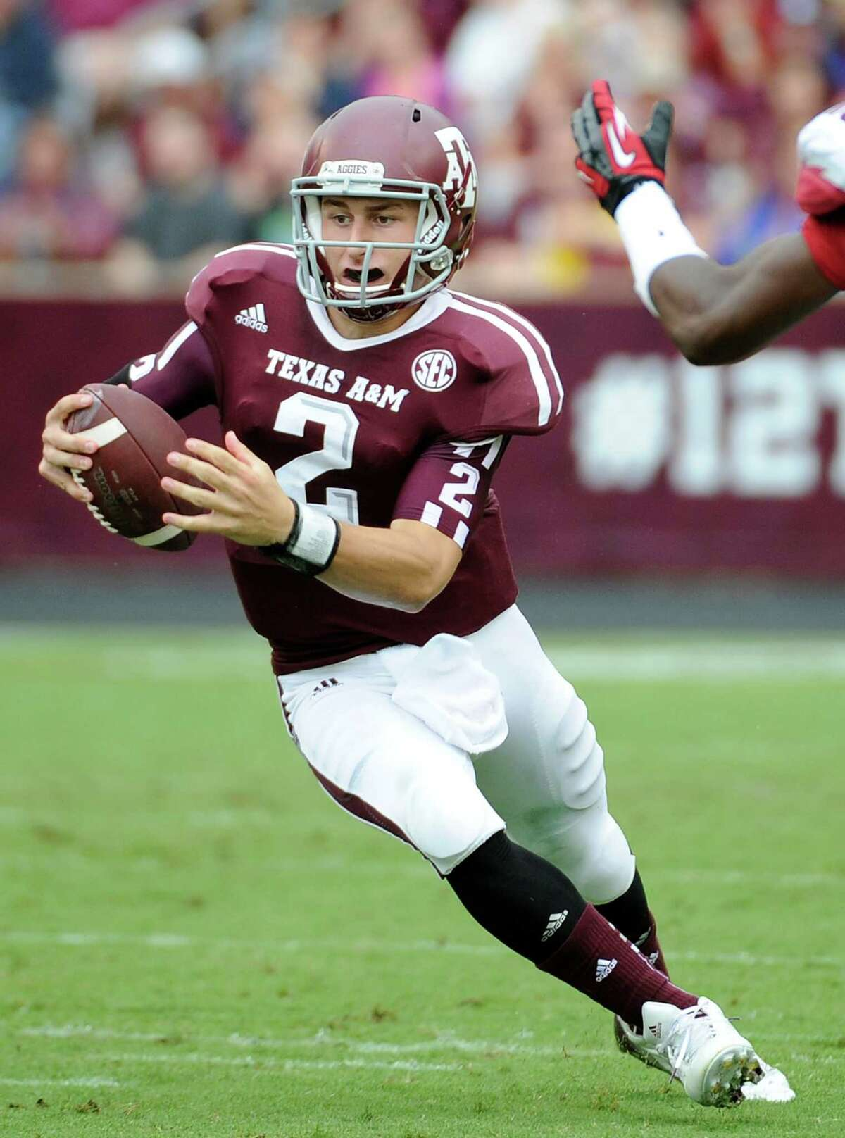 A&M's Johnny Manziel broke the SEC record for total yards last week. He had 557, surpassing the 540 of Ole Miss's Archie Manning (1969) and LSU's Rohan Davey (2001).