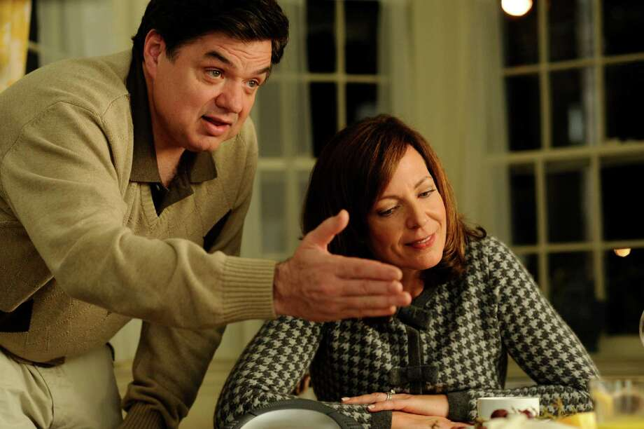 "Oliver Platt and Allison Janney star as Terry and Carol in ""The Oranges."" Photo: Myles Aronowitz / ONLINE_YES"
