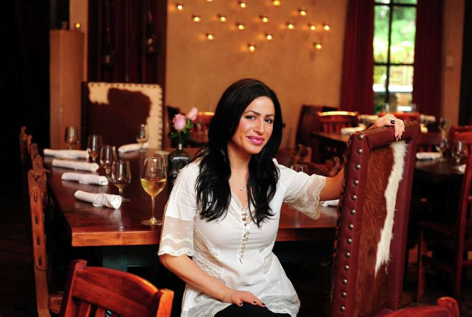 Owner Maria Pertesis at Cactus Rose Cantina in Wilton, Conn. Photo: Autumn Driscoll / Connecticut Post