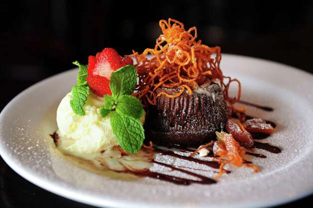 The Chocolate Molten Cake at Cactus Rose Cantina in Wilton, Conn. Photo: Autumn Driscoll / Connecticut Post