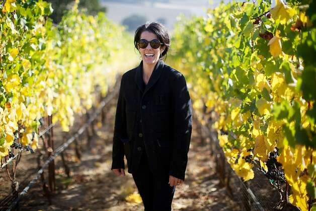 Antica Terra Winery, Dundee, Oregon -- Winemakers, including Maggie Harrison, are in full harvest and production mode in Western Oregon as the current crop of grapes are the best in the past  few growing seasons. Photo: Bruce Ely, Special To The Chronicle
